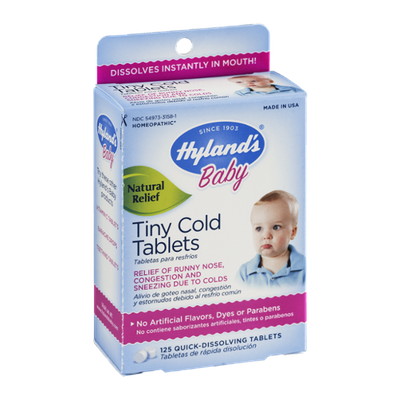 Hyland's Baby Tiny Cold Tablets Quick-Dissolving - 125 CT