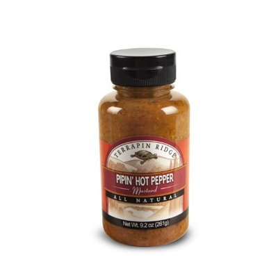 Terrapin Ridge Piping Hot Pepper Mustard, 9.2-Ounce (Pack of 6)