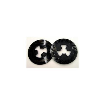3M Abrasive 405-051144-81733 Disc Pad Face Plate Ribbed Black, 5 in - 10 Each Per Case
