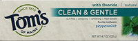 Tom's of Maine Clean and Gentle Care Anticavity and Whitening Toothpaste