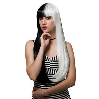 Mix White and Black Wig
