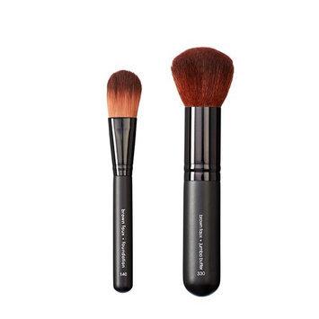 Makeover Vegan Love Foundation Brush and Jumbo Buffer Brush