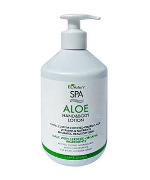 B2 SPA Organics 100% Organic Aloe Hand & Body Nature SPA Lotion