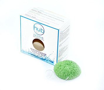 The Best Facial Cleanser Konjac Sponge - HUB Skin Care Ocean5 Green with Konjac Fibre & Green Tea Extract - 100% Natural & Organic ...