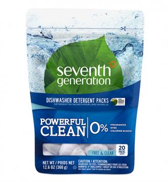 Seventh Generation Free & Clear Natural Dishwasher Detergent Packs