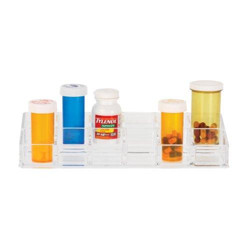 Danielle 12 Compartment Clear Acrylic Pill Box Organizer