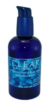 Clear revitalizing hand & body lotion pump bottle