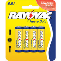 Rayovac Heavy-Duty Zinc AA Batteries, 4pk