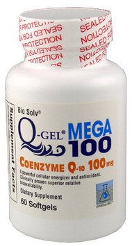 Tishcon Corp Q-Gel Hydrosoluble Coenzyme Q10 100mg 60ct.