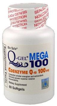 Tishcon Corp Q-Gel Hydrosoluble Coenzyme Q10 100mg 60ct.