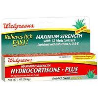 Walgreens Maximum Strength Hydrocortisone 1% Plus Anti-Itch Cream