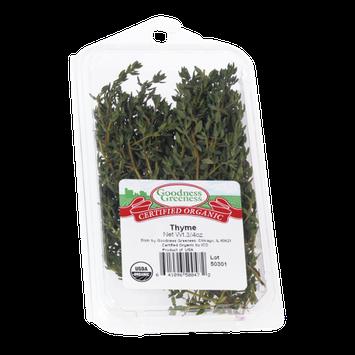 Goodness Greeness Thyme Herbs - Organic