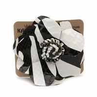 Karina Zebra Leather Flower Pin