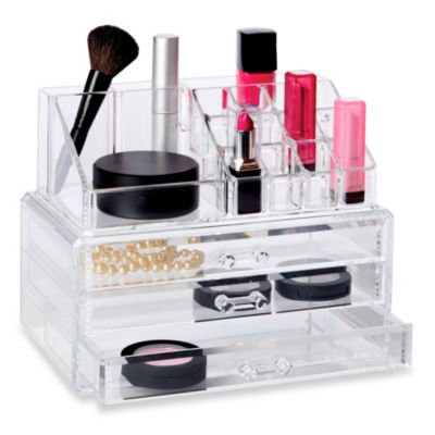 Richards Homewares Personal 19-compartment Cosmetic Organizer with Drawer (Clear)