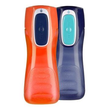 Contigo Kids Trekker Water Bottle 2pk, Navy, Nectarine, 2 ea