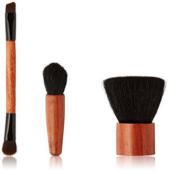 ON&OFF Wooden Duo Eye Wooden Flat Top Buki and Mini Definer Brush