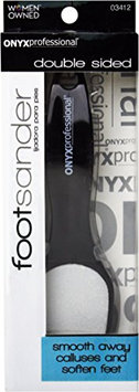 Onyx Professional Double Sided Exfoliating Smoothing Foot File - Front Exfoliates & Back Smooths Feet. Great on Rough
