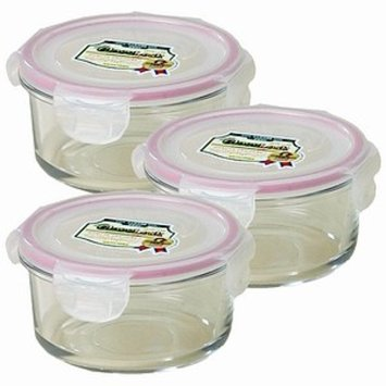 Kinetic Go Green GlassLock 14 Ounce Round Storage Container 3 Pack