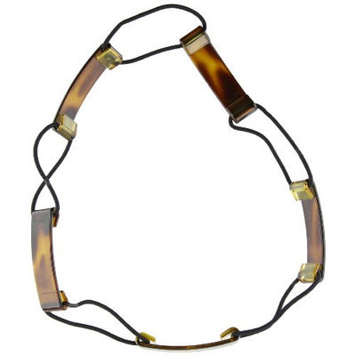 Caravan Linking A Full Circle Stretch Headband Links Celluloid Tortoise Shell With Elastic