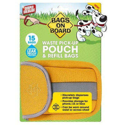 Bags On Board Pouch Dispenser, 15 Bags, Spice