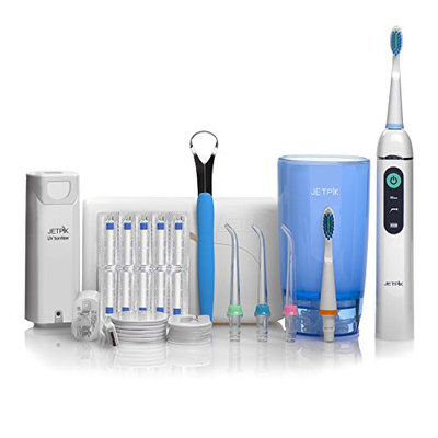 Jetpik JP200 Ultra Rechargeable Electric Dental Flosser with Pulsating Water Jet Power