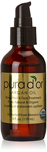 Pura d'or 100% Pure & USDA Organic Argan Oil