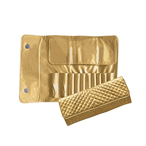 Beauty Pro Series Quilted Brush Case Gold