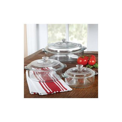 Libbey Glass Round Covered Casserole Set, 6 piece