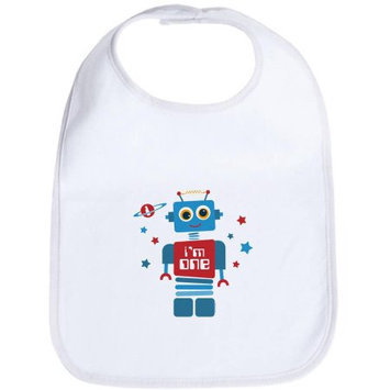 CafePress Newborn Robot 1st Birthday Bib