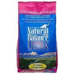 Natural Balance Ultra Premium Dry Cat Food 15 lbs
