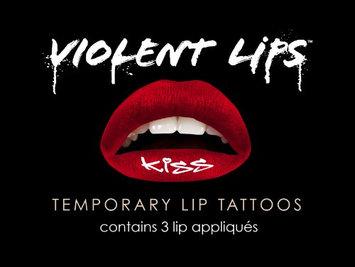 Violent Lips - The Red Kiss Glitteratti - Set of 3 Temporary Lip Appliques