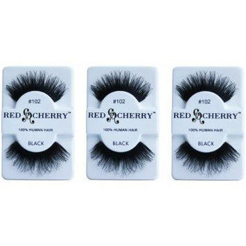 Red Cherry #102 False Eyelashes (Pack of 3 Pairs)