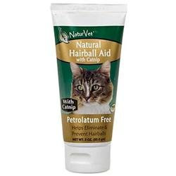 NaturVet Natural Hairball Aid Gel with Catnip - 3 oz