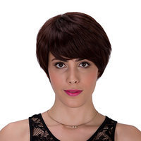 Probeauty Deep Ombre Short Synthetic Hair Women Ladies Daily Use Replacement Wig