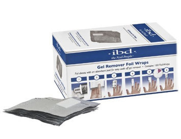 IBD Just Gel Nail Polish Gel Remover Foil Wraps