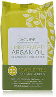 Acure Argan Oil Cleansing Towelettes - Unscented - 30 ct