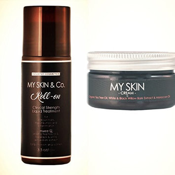 My Skin and Co Liquid Skin Treatment Roll-On Creams for Ingrown Hairs and Razor Bumps After Waxing/Razor