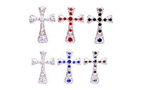 Linda Fashion Cross Stud Earrings