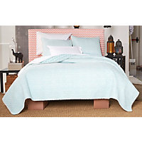 Ivy Hill Didi Caribbean Blue King Quilt Set-King, CARIBBEAN BLUE