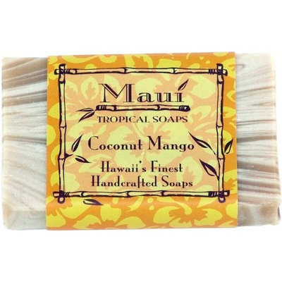 Maui Tropical Soaps Hawaiian Guest Soap Coconut Mango, 1.5-Ounce (Pack of 4)