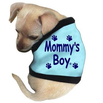 Pet Tease Mommy's Boy Dog Tank, Extra Large, Blue