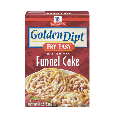 McCormick® Golden Dipt® Funnel Cake Batter Mix