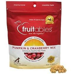 Fruitables Pumpkin & Cranberry Dog Treats, 7 oz