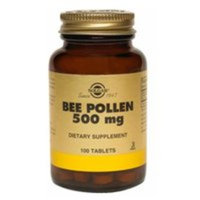 Solgar Bee Pollen Tablets, 500 MG, 100 Tabs (Pack of 2)