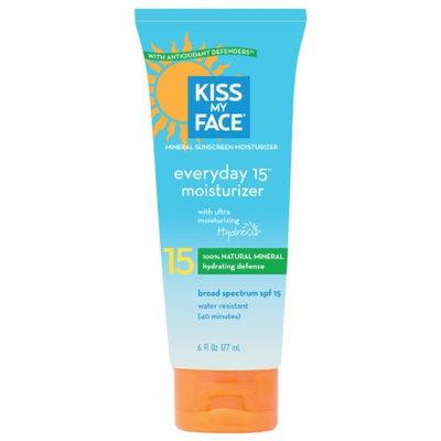 Kiss My Face Everyday Moisturizer SPF 15, 6 fl oz