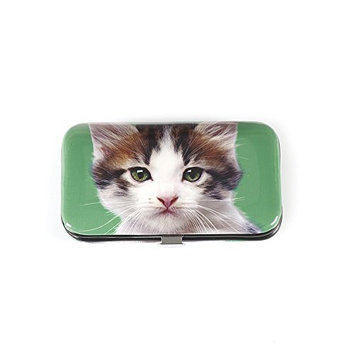 Catseye Kitten On Green Nail Care Set