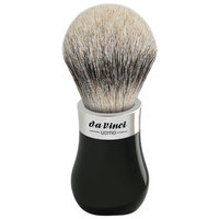 Da Vinci Series 293 Uomo Shaving Brush Silvertip Badger Hair Bead Handle with Shower Holder