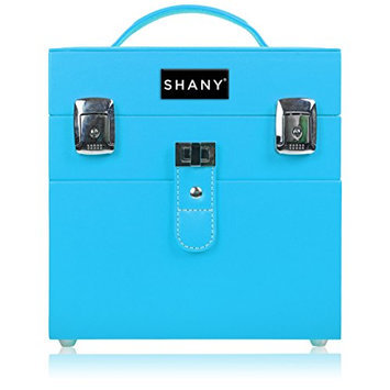 SHANY Color Matters - Nail Accessories Organizer and Makeup Train Case - Vicious Blue