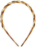 Caravan Braid Twisted Headband In A Tortoise Shell and Leopard Painted Design
