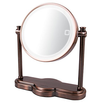Ovente MHT80AB Dual Sided Multi Touch Tabletop Vanity Mirror